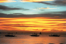 The magnificent sunset of Boracay