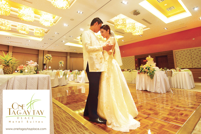 Wedding Reception - Aurora Grand Ballroom at One Tagaytay Place Hotel Suites