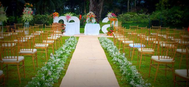 Book a garden wedding venue win a garden wedding for Jardin de miramar