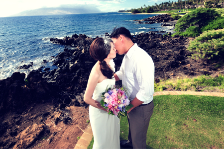 Wedding Shoot in Maui. Photo by Nice Print Photography