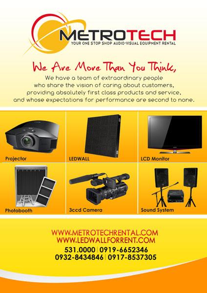 Metrotech Rental Solutions Inc.| Metro Manila Wedding Equipment Rentals (Aircon, Generators, Projectors) | Kasal.com - The Philippine Wedding Planning Guide