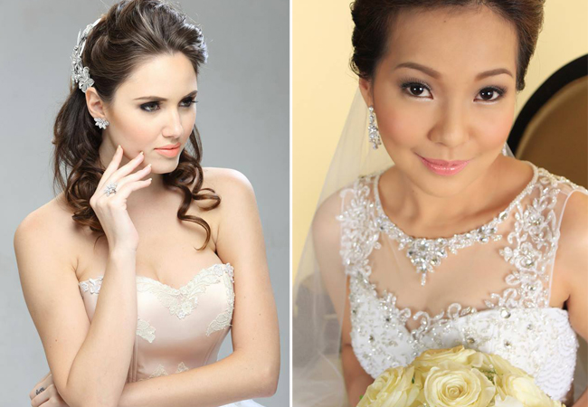 Beautiful Brides  From left to right: Hair and Make up by Rizza Mae Aganap Makeup Artistry and Iris Lee | Pro Makeup Artist