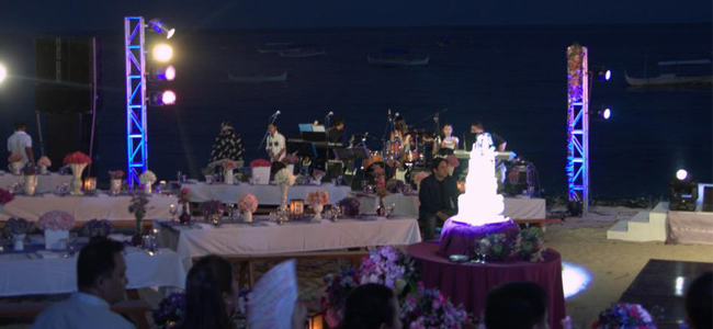 Beach Wedding<br/>Lights by Sensitivity Lights and Sounds