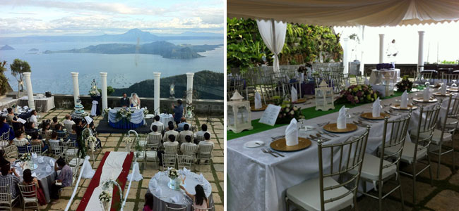 A Scenic View and a Beautiful Wedding Set-up at Villa Ibarra