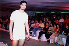 Get intimate: Actor/Model Kenji Marquez makes his directorial debut in the Rustan's intimate wear trunk show