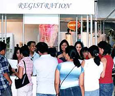 The crowd came in droves to the mega-bridal event at the  Megamall