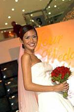 A blushing bride...