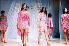 Floral pink slips for a fun honeymoon. Honeymoon wear by  Josie Natori