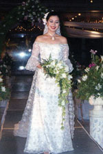 The legendary designer of Iloilo Ms. Mel Varca  showed her Filipiniana bridal gown