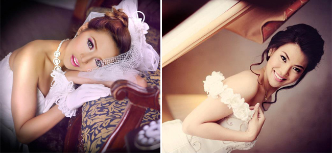 Real Brides  Hair and Make-up by Makeup by Faye Young