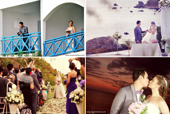 Beach wedding of Actor John Estrada and Beauty Queen Priscilla Meirelles at Thunderbird Resorts Poro Point, La Union