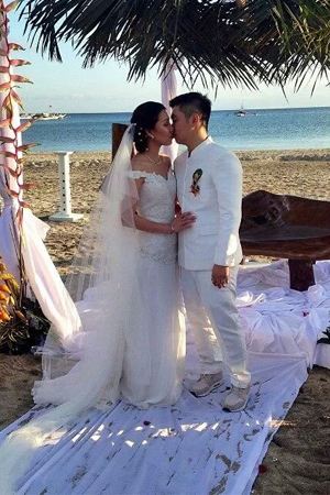 A Blue Beach Wedding Gino Ysmael Pascual and Angellie Gayle Magtalas  Flowers by Amazing Touch Floral Designs