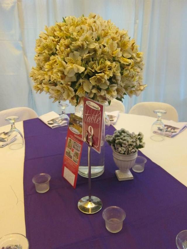 purple white wedding chef patricks kitchen