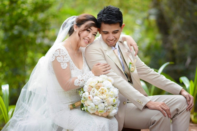 marien and cyril rustic floral wedding