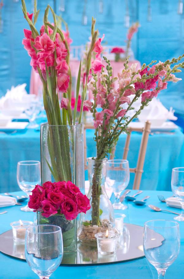 hizons catering pink and blue wedding
