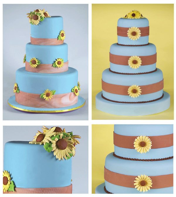 hizons catering yellow and blue wedding