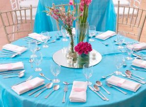 hizons blue and pink wedding