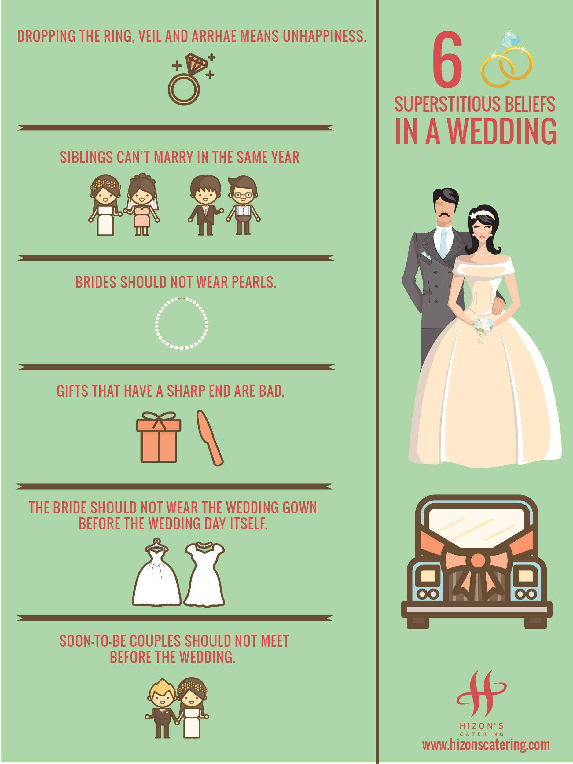 hizons catering wedding superstitious beliefs