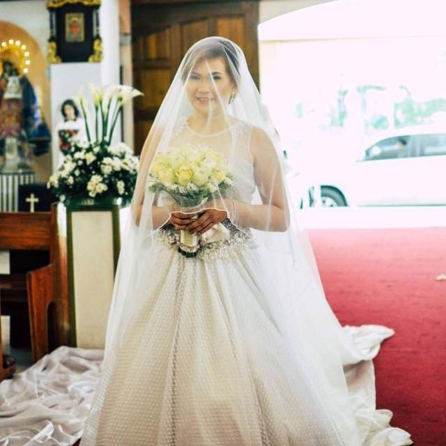 new creation fashion bride walks down the aisle