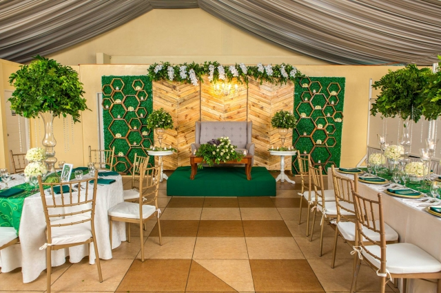 blooms and greenery wedding hizons catering