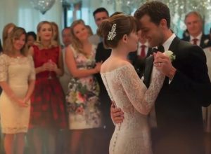 fifty shades freed wedding dress