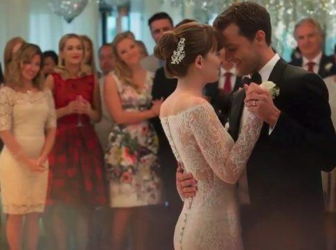 fifty shades freed wedding dress