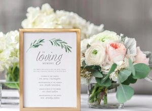 wedding memorial sign