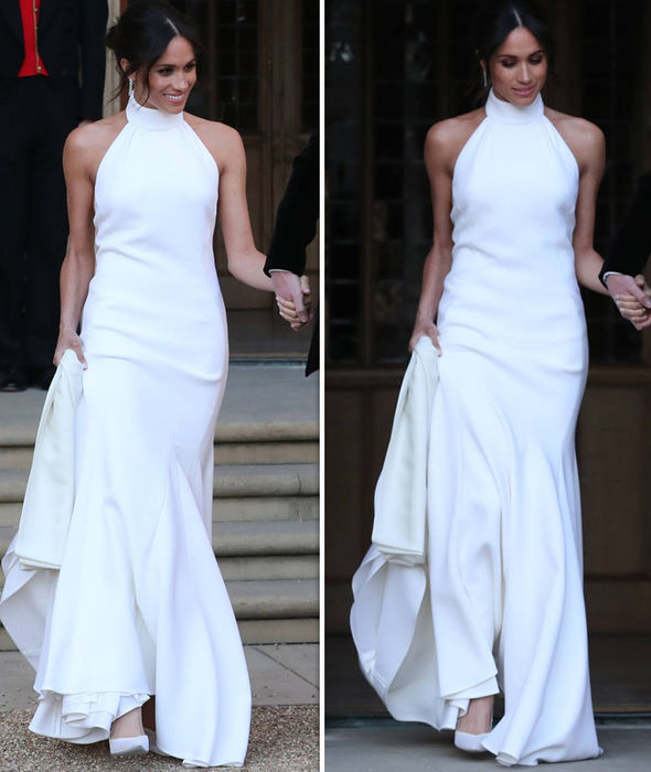 #royalwedding2018 meghan second dress daily express