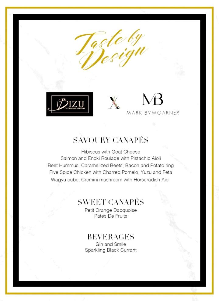 taste by design bizu X mark bumgarner