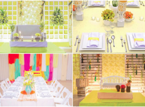 bright colored themes hizons catering