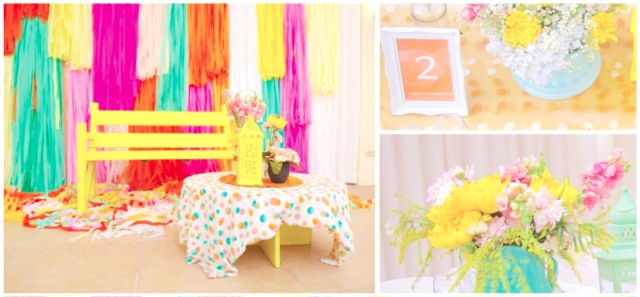 colorful theme hizons catering