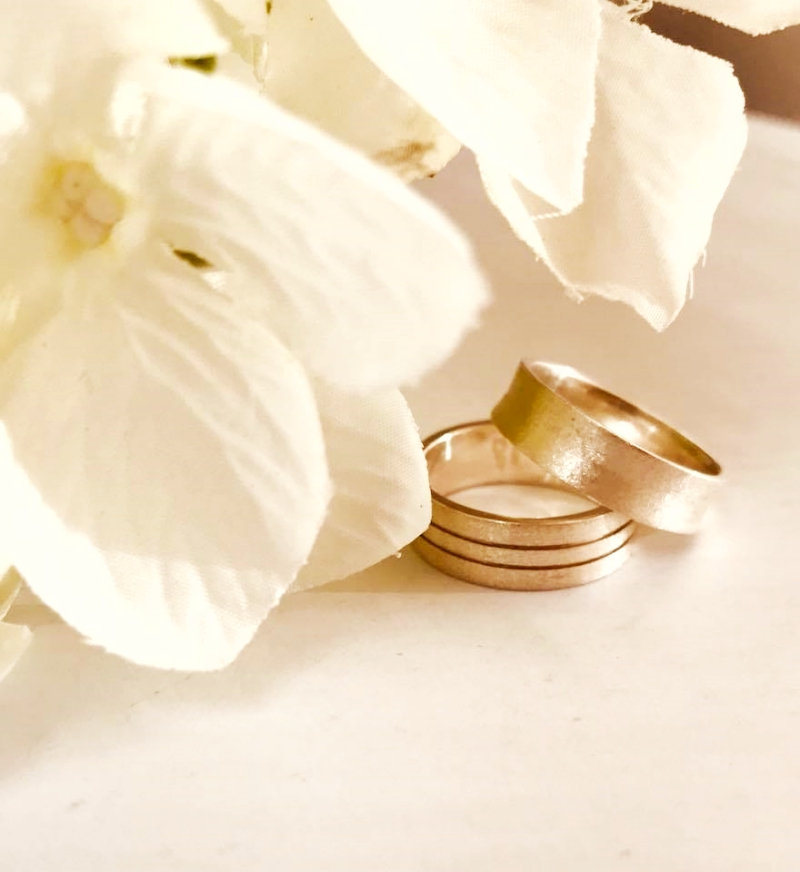 bronze wedding rings v gem jewelry