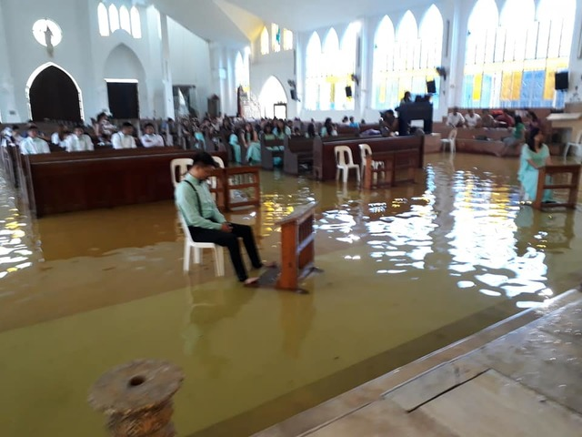 flooded wedding