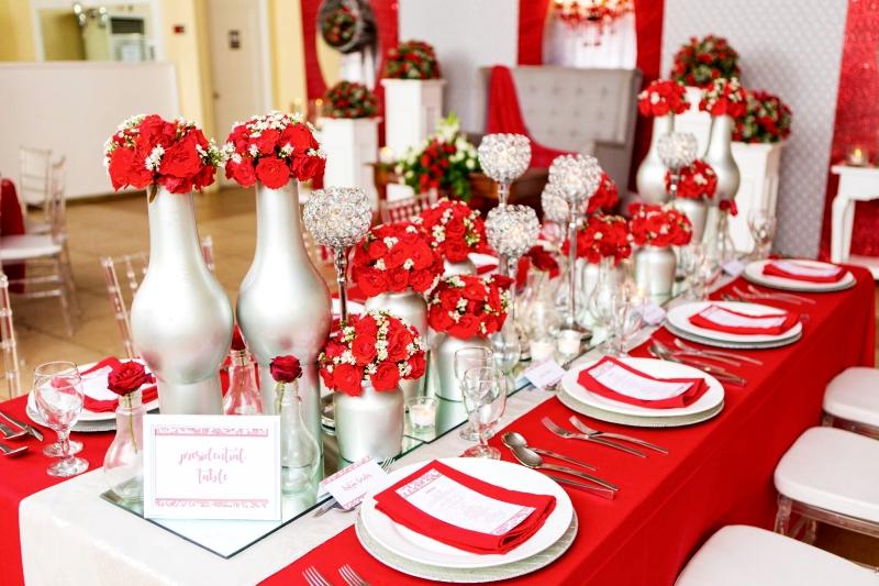 simple elegant hizons catering theme