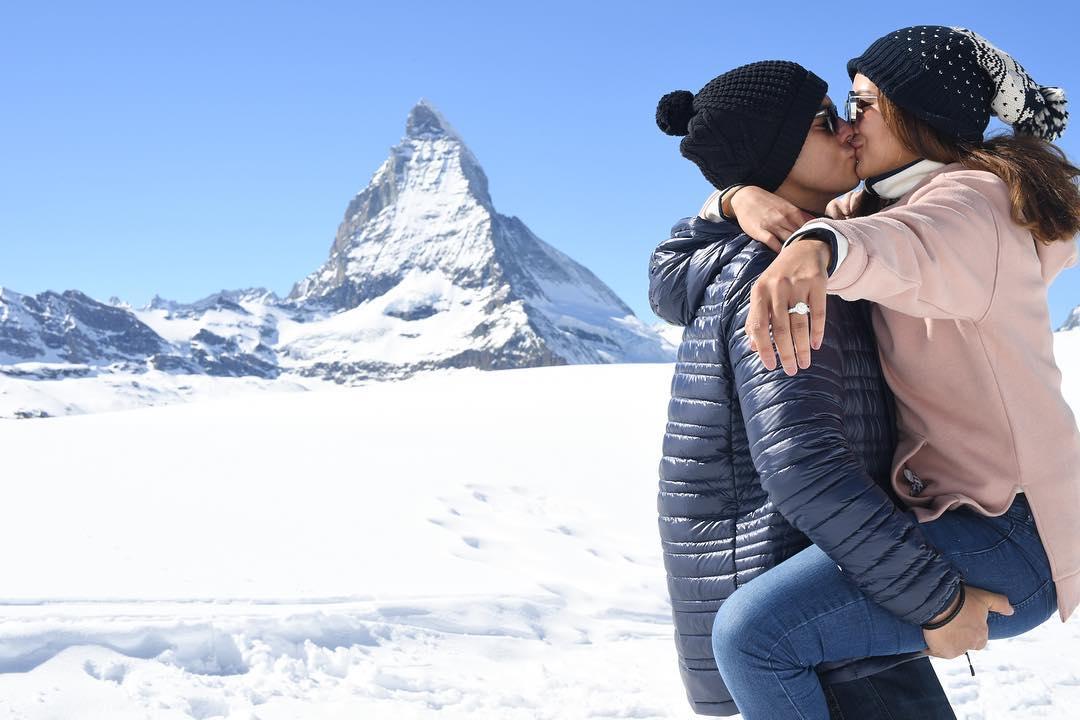 Richard proposed to Sarah at Zermatt, Switzerland